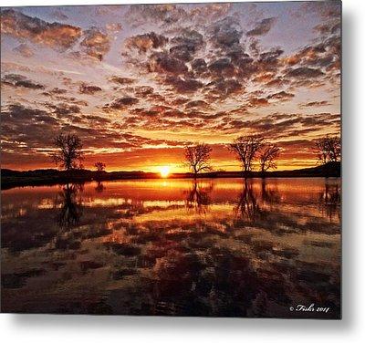 Reflective Dawn Metal Print
