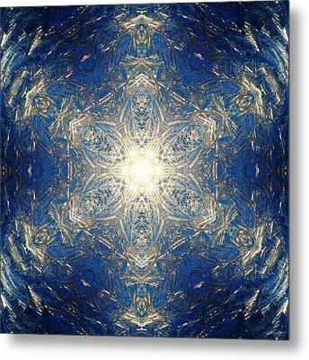 Reflective Ice I Metal Print