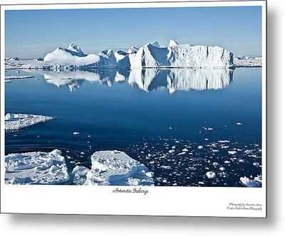 Reflective Icebergs Metal Print by David Barringhaus