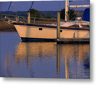 Metal Print featuring the photograph Reflective Mood by Laura Ragland