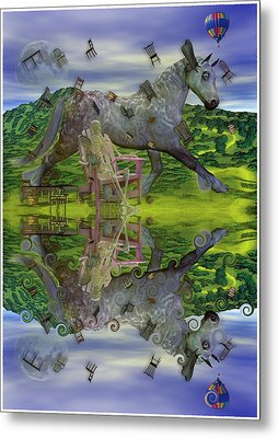 Reflective Oz Metal Print by Betsy Knapp