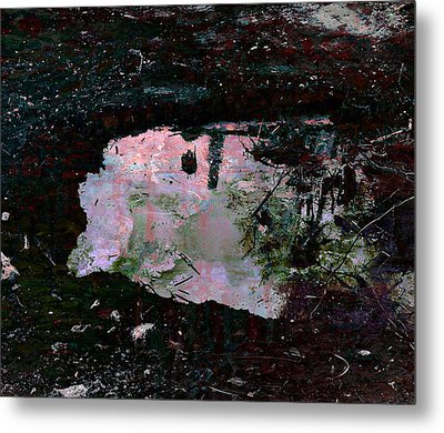 Reflective Skylight On A Small Pond Of Water # 1 Metal Print by Miguel Conesa Osuna