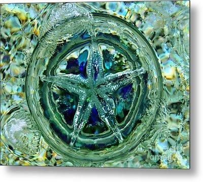 Refraction Blue Landscape Metal Print
