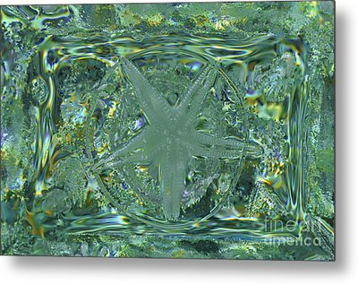 Refraction Rectangle Landscape Metal Print