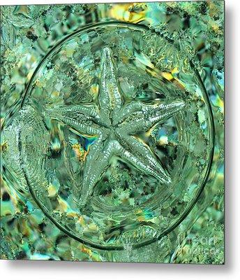 Refraction Star Metal Print