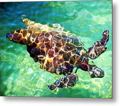 Metal Print featuring the photograph Refractions - Nature's Abstract by David Lawson