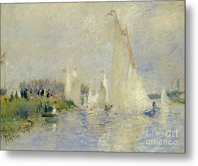 Regatta At Argenteuil Metal Print