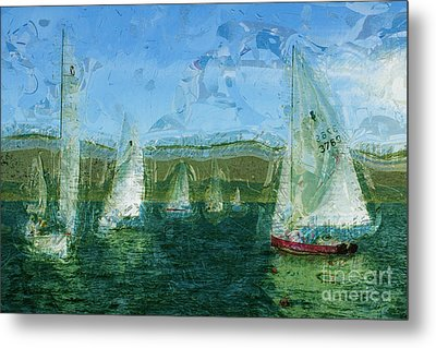 Metal Print featuring the photograph Regatta Day by Julie Lueders