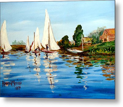 Regatta De Argenteuil Metal Print by Karon Melillo DeVega