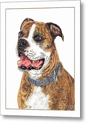 Metal Print featuring the painting Reggie by Val Miller