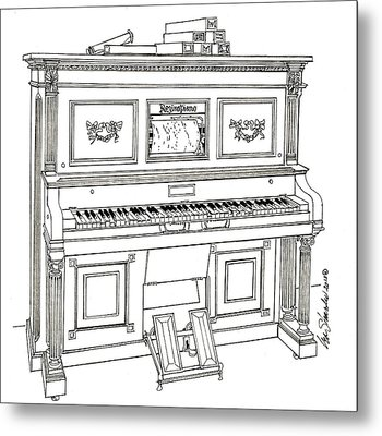 Regina Player Piano Metal Print
