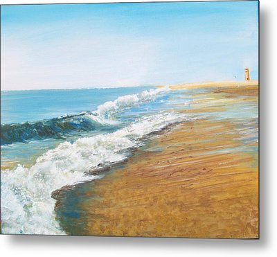 Rehoboth Beach Sunrise Metal Print