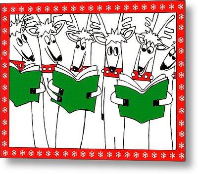 Reindeer Choir Metal Print by Genevieve Esson