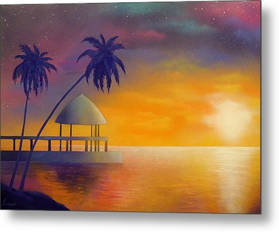 Relax Metal Print by Ismael Paint