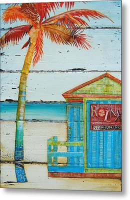 Relax No Working Metal Print