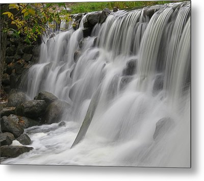 Metal Print featuring the photograph Relaxation Falls by Nikki McInnes