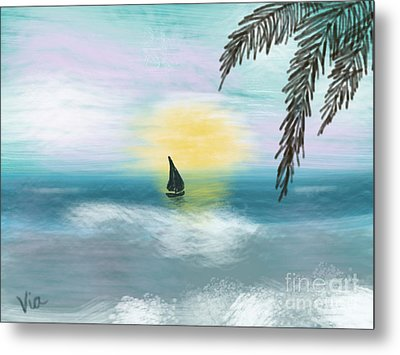 Relaxation Metal Print by Judy Via-Wolff