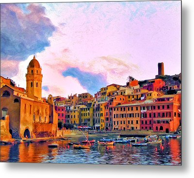Relaxing Around Vernazza Metal Print