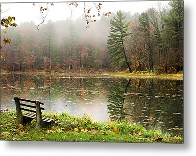 Metal Print featuring the photograph Relaxing Autumn Beauty Landscape by Christina Rollo