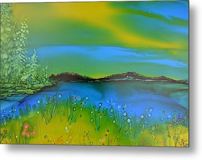 Relaxing Meadow Metal Print by Kellie Chasse