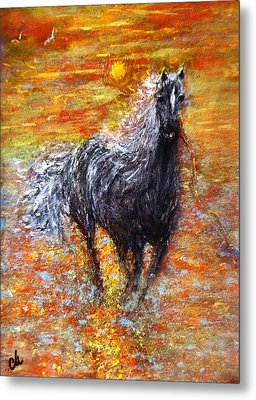 Metal Print featuring the painting Release.. by Cristina Mihailescu