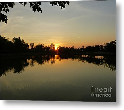 Reflections At Dusk Metal Print by Marguerita Tan