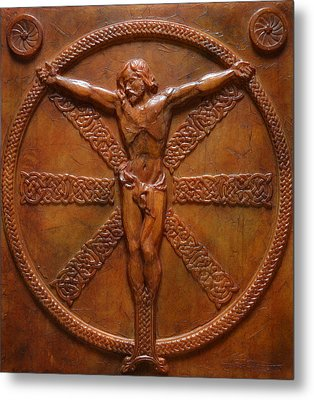 Relic - A Celtic Crucifixion Metal Print by Jeremiah Welsh