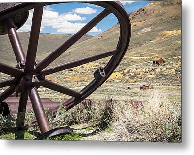 Metal Print featuring the photograph Relics Of Bodie by Steven Bateson