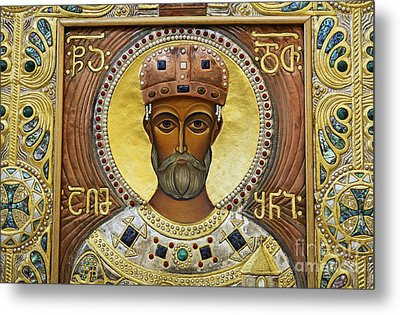 Religious Art Inside The Tsminda Sameba Cathedral Metal Print