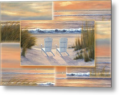 Relocated - Paradise Sunset Metal Print