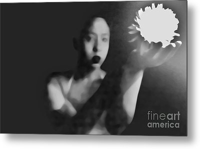 Reluctent To Hold Beauties Glow Metal Print by Jessica Shelton