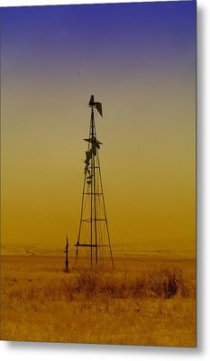 Remains Of An Old Windmill  Metal Print by Jeff Swan