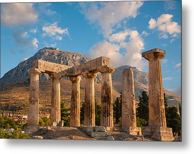 Remains Of Apollo Temple Metal Print by Gurgen Bakhshetsyan