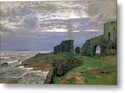 Remains Of Bygone Days Metal Print by Isaak Ilyich Levitan