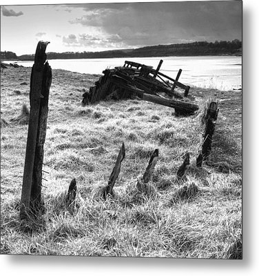 Remains Of The Severn Trow Severn Collier At Purton Metal Print by Rachel Down
