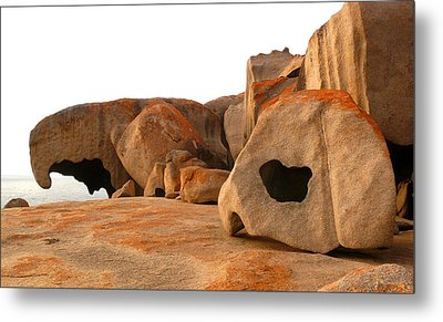 Remarkable Rocks Metal Print by Evelyn Tambour