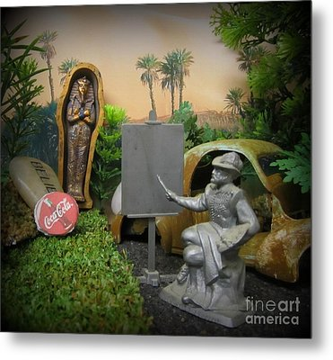 Rembrandt And Other Old Collectables Metal Print