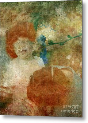 Metal Print featuring the digital art Rembrant's Daughters by Chris Armytage