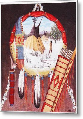 Remember The Past Metal Print by Billie Bowles