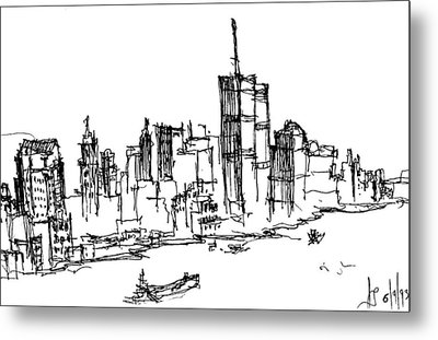 Remember World Trade Center Metal Print