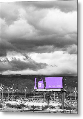 Remembrance Palm Springs First Lady Betty Ford Metal Print by William Dey