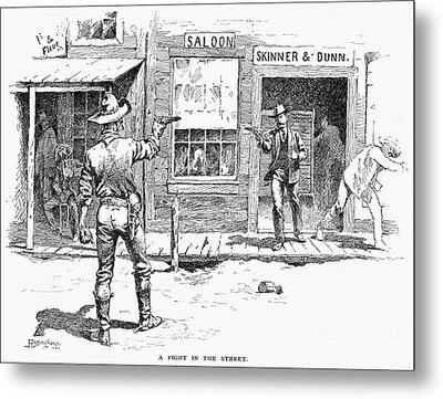Remington: Duel Metal Print by Granger