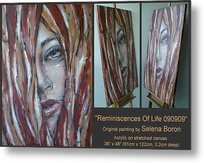 Metal Print featuring the painting Reminiscences Of Life 090909 by Selena Boron