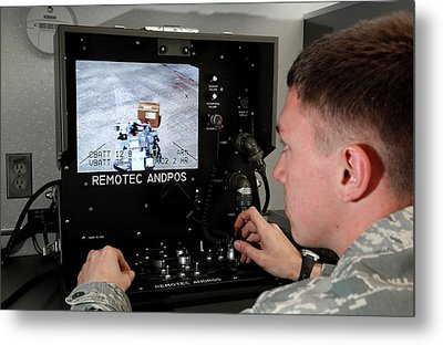 Remote Controlled Bomb Disposal Metal Print by Us Air Force/rey Ramon