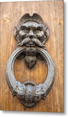 Renaissance Door Knocker Metal Print