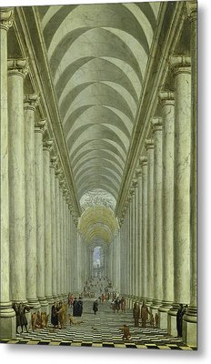 Renaissance Indoor Staircase Metal Print by Wilhelm Ehrenberg