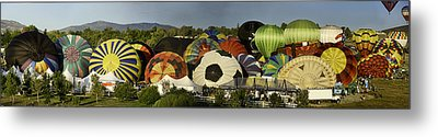 Reno Balloon Race Panorama Metal Print