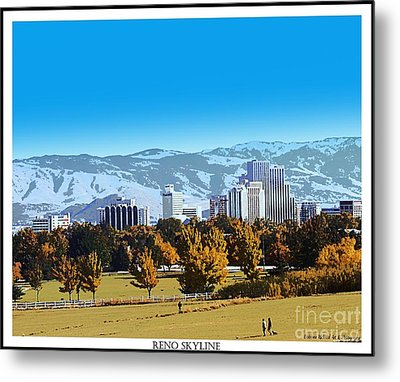 Reno Skyline From Rancho San Rafael Metal Print by Bobbee Rickard