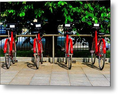 Rent-a-bike - Featured 3 Metal Print by Alexander Senin