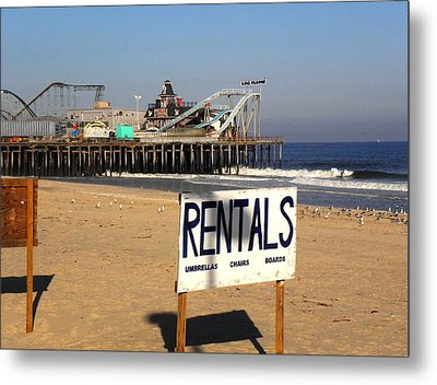 Rentals At The Shore Metal Print
